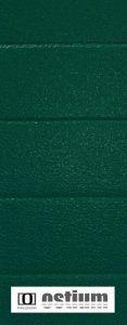 zielona brama garażowa